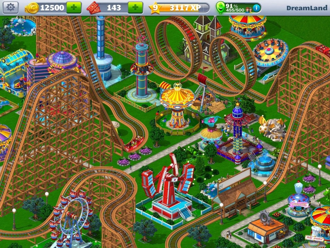 Roller Coaster Tycoon 4 Mobile Gameplay