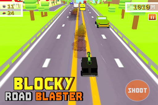 Blocky Road Blaster -Wild Race