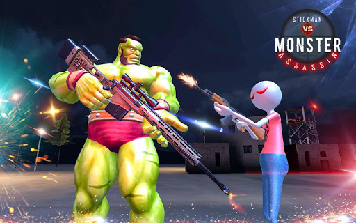American Monster vs Stickman Sniper Modern Combat