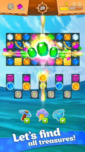 Treasure hunters match-3 gems