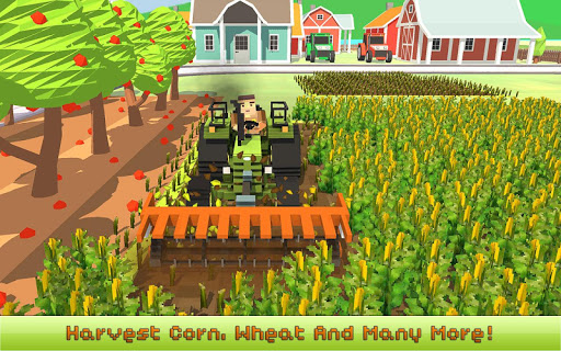 Blocky Farm: Corn Professional