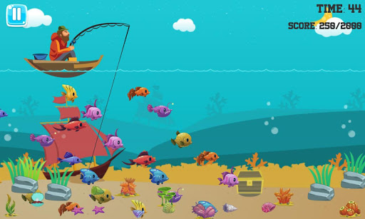 Fishing for children and the underwater world game