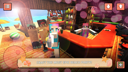 Unduh Beach Party Craft: Summer High School Adventure v1.3 Mod Apk (Unlocked) Android Apk