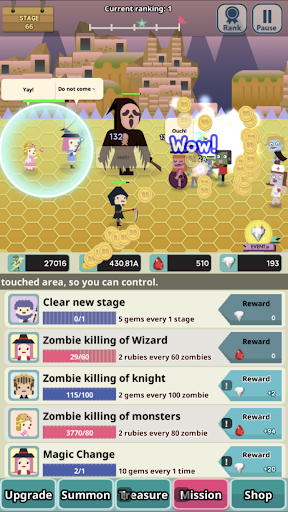 Infinity Dungeon 2 - Summon lady and Zombie