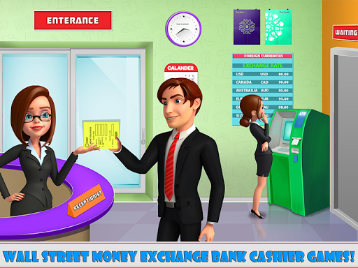 Wall Street Money Exchange Bank Cashier Games