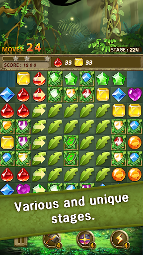 Jewels Jungle : Match 3 Puzzle
