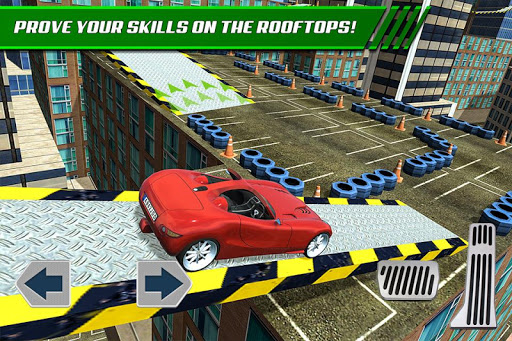 Roof Jumping Car Parking Games