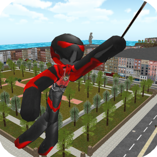 Stickman Rope Hero v3.8.3 (Mod Apk Money) logo