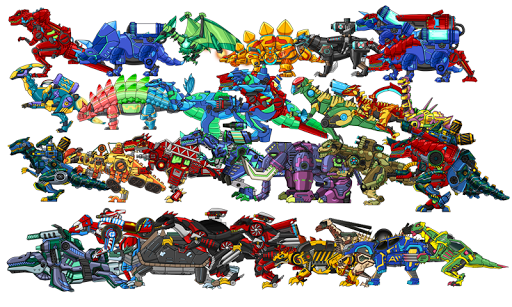 Dino Robot Battle Field