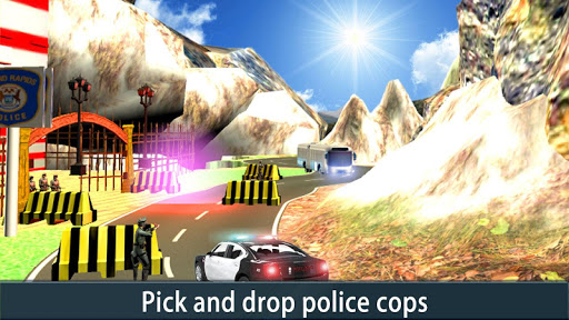 Police Bus Uphill Driver
