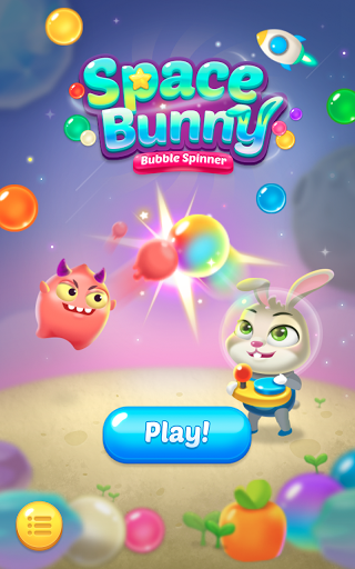 Bubble spinner : space bunny