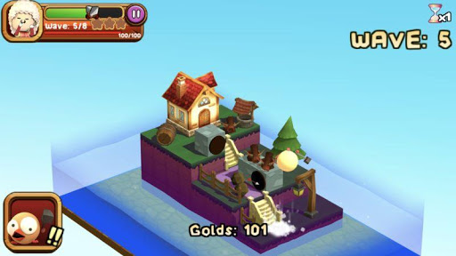 3D TD: Chicka Invasion - 3D Tower Defense!