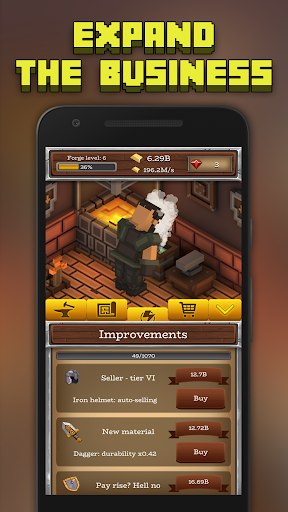 ForgeCraft - Idle Tycoon. Crafting Business Game.