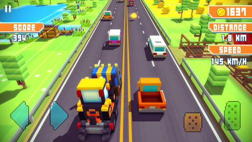 Blocky Highway: Traffic Racing