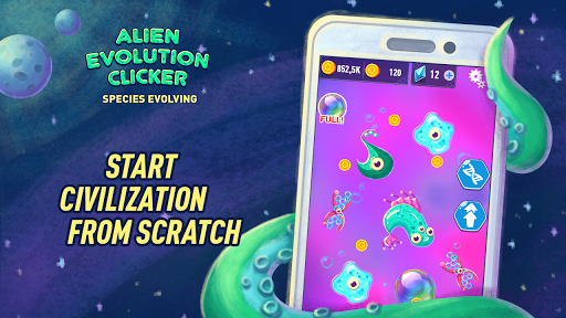 Alien Evolution Clicker: Species Evolving