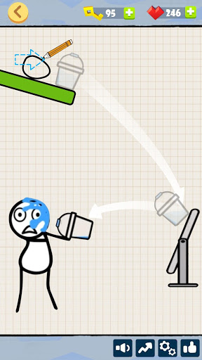 Bad Luck Stickman- Addictive draw line casual game