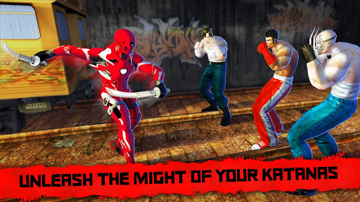 Superhero Iron Ninja Battle: City Rescue Fight Sim