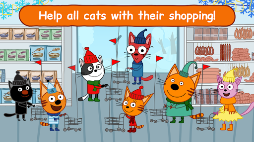 Kid-E-Cats: Grocery Store & Cash Register Games