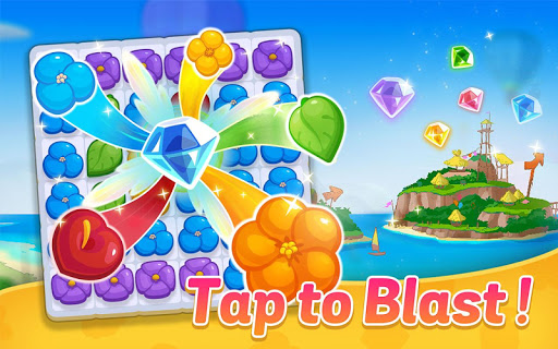Ohana Island: Blast flowers and build