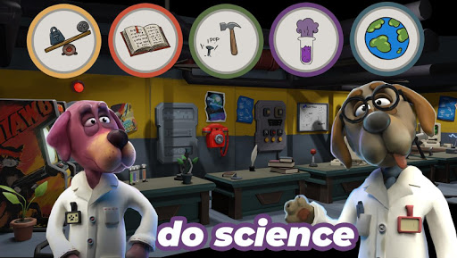 Prof. Woof - cute idle game with dogs and rockets