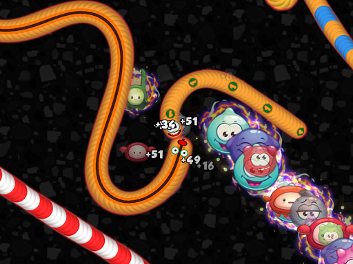 Worms Zone .io - Gefräßige Schlange