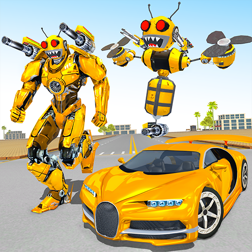 Bee Robot Car Transformation
