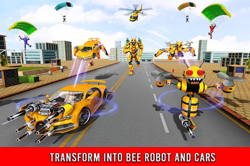 Bee Robot Car Transformation Game: Robot Car Games