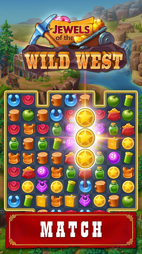 Jewels of the Wild West: Match gems & restore town