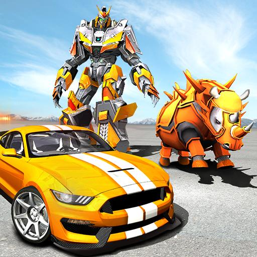 Rhino Robot Car transforming – City battle