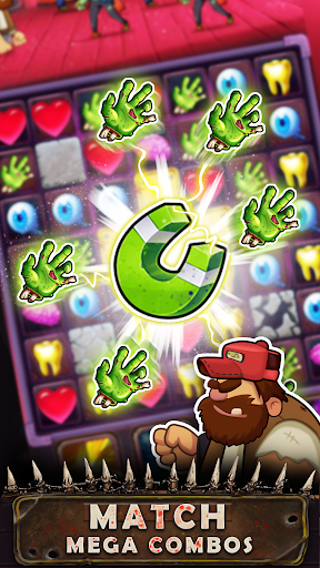 Zombie Puzzle - Match 3 RPG Puzzle Game