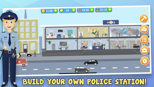 Police Inc: Tycoon police station builder cop game