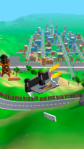 Crash Delivery! Destruction & smashing flying car!