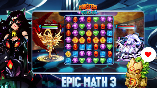 Monsters & Puzzles: Battle of God, New Match 3 RPG