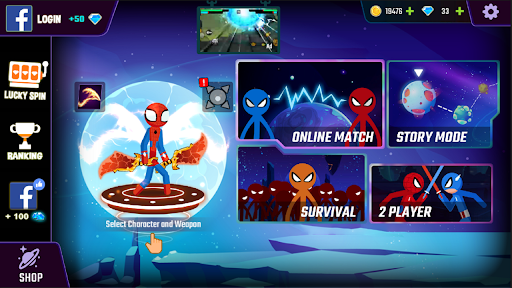 Spider Stickman Fight 2 - Guerrier Stickman suprême