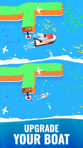 Fish idle: hooked tycoon. Your own fishing boat