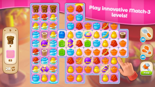Grand Cafe Story-New Puzzle Match-3 Game 2021