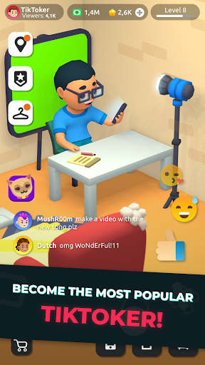 Idle Tiktoker: Get followers and become celebrity