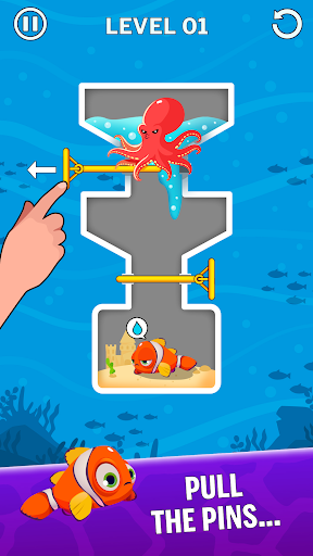 Water Puzzle - Fish Rescue & Pull The Pin